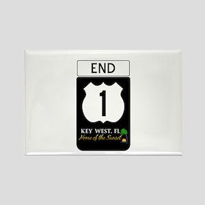 Highway 1 Key West Rectangle Magnet