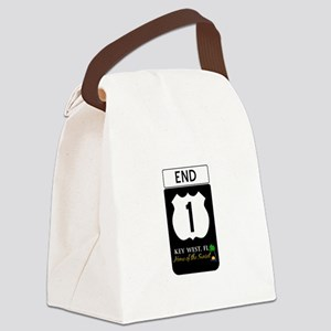 Highway 1 Key West Canvas Lunch Bag