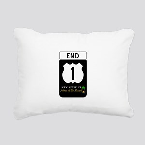 Highway 1 Key West Rectangular Canvas Pillow