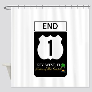Highway 1 Key West Shower Curtain