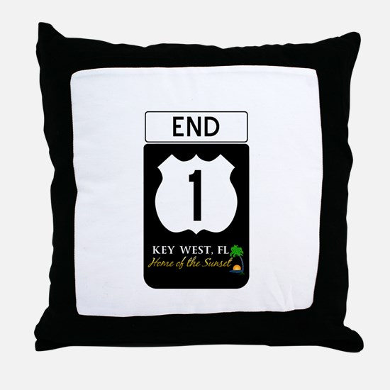 Highway 1 Key West Throw Pillow