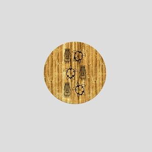 Honu and Tiki Mask Mini Button