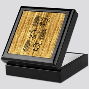 Honu and Tiki Mask Keepsake Box