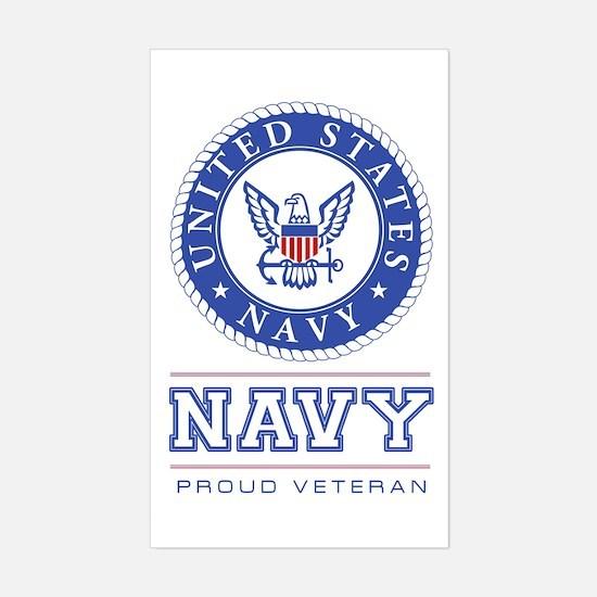 Navy - Proud Veteran Decal