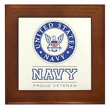 Navy - Proud Veteran Framed Tile