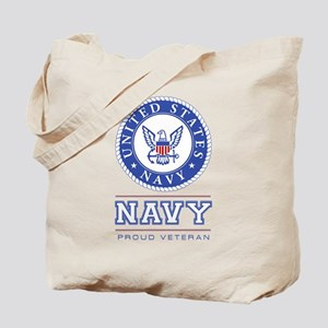 Navy - Proud Veteran Tote Bag