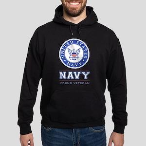 Navy - Proud Veteran Hoodie
