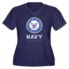 Navy - Proud Veteran Plus Size T-Shirt