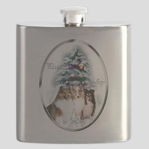 Shetland Sheepdog Christmas Flask