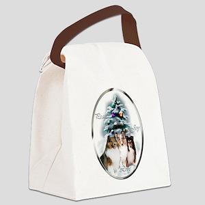 Shetland Sheepdog Christmas Canvas Lunch Bag