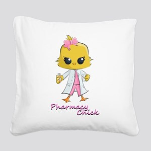 Pharmacy Chick Square Canvas Pillow