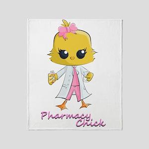 Pharmacy Chick Throw Blanket