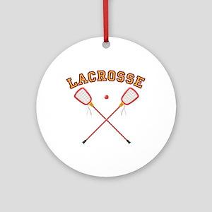 Lacrosse Sticks Ornament (Round)
