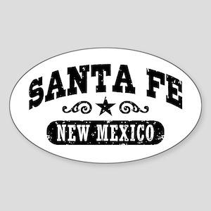 Santa Fe New Mexico Sticker (Oval)