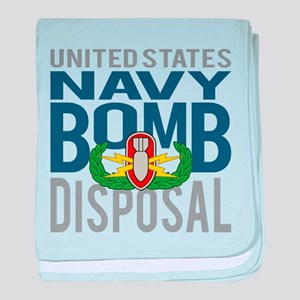 Navy Bomb Disposal baby blanket