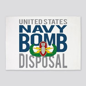 Navy Bomb Disposal 5'x7'Area Rug