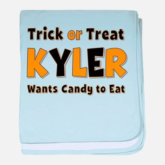Kyler Trick or Treat baby blanket