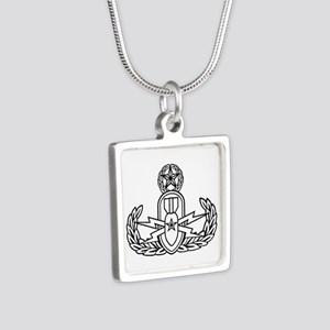 EOD Master Silver Square Necklace