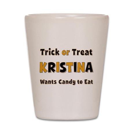 Kristina Trick or Treat Shot Glass