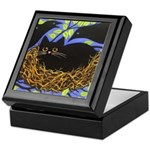 Black CAT In Crows' Nest ART Keepsake Box