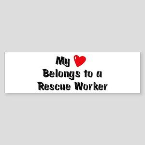 My Heart: Rescue Worker Bumper Sticker