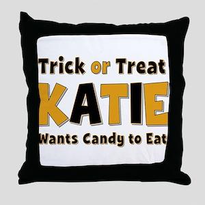 Katie Trick or Treat Throw Pillow
