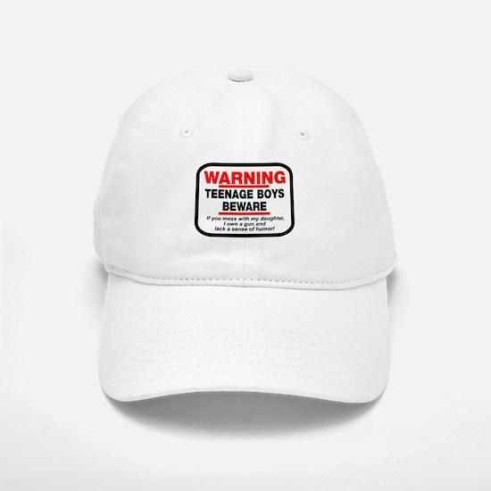 Warning Teenage Boys Baseball Baseball Cap