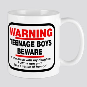 Warning Teenage Boys Mug
