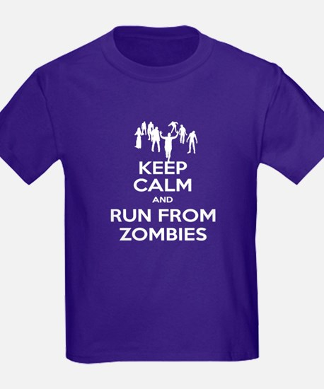 Keep Calm and Run From Zombies T