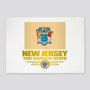 New Jersey Flag 5'x7'Area Rug