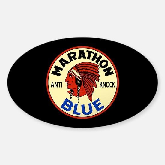 Marathon Blue Sticker (Oval)