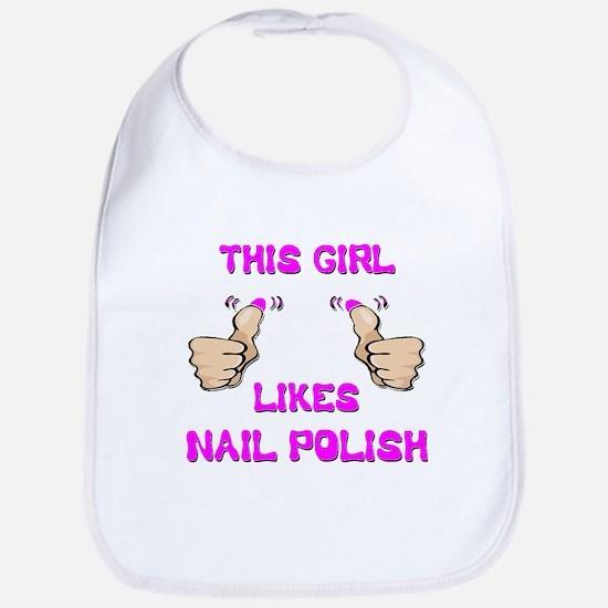 This Girl Likes Nail Polish Bib