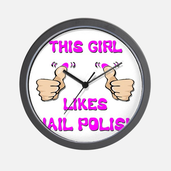 This Girl Likes Nail Polish Wall Clock