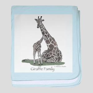 Giraffe Family baby blanket