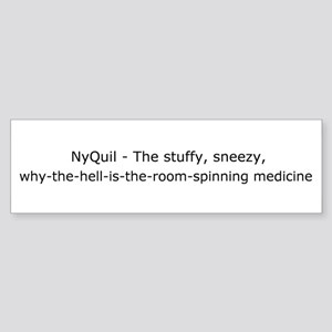 NyQuil Bumper Sticker