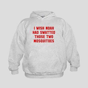 Noah Swatted Two Mosquitoes Kids Hoodie