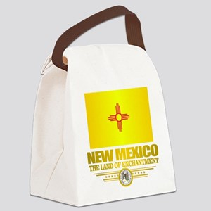 New Mexico Flag Canvas Lunch Bag