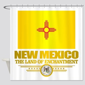 New Mexico Flag Shower Curtain