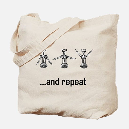 Wine Open and Repeat Tote Bag