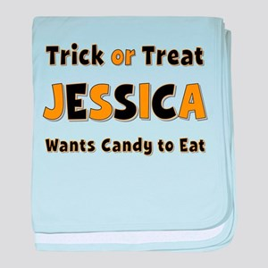 Jessica Trick or Treat baby blanket