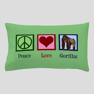Peace Love Gorillas Pillow Case