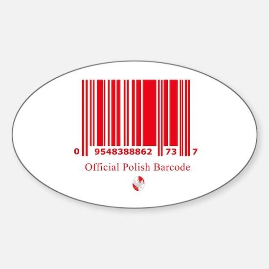 Polish Bar Code Oval Decal