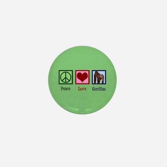 Peace Love Gorillas Mini Button