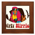 Dirty Hippies logo Framed Tile
