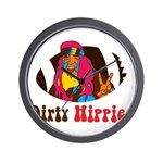 Dirty Hippies logo Wall Clock