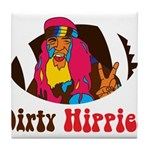 Dirty Hippies logo Tile Coaster