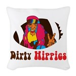 Dirty Hippies logo Woven Throw Pillow