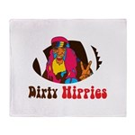 Dirty Hippies logo Throw Blanket