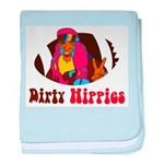 Dirty Hippies logo baby blanket