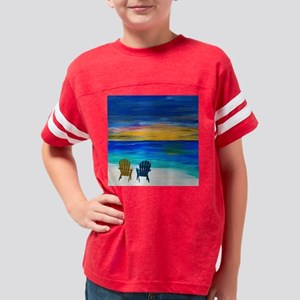 Two of us at the beach Youth Football Shirt